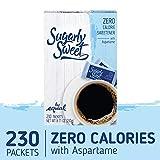 SUGARLY SWEET Zero Calorie Sweetener Packets with Aspartame, Sugar Substitute, Sugar Alternative, Blue Sweetener Packets, 230 Packets