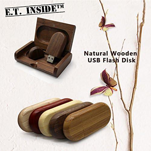 E.T. Inside 5 Piezas 64GB Memorias USB 2.0 Elipse de Madera Pendrive con Caja de Regalo de Madera: Amazon.es: Electrónica