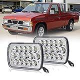 DOT Approved Super bright Pair 5x7'' 7x6''inch LED Headlights Hi-Lo Beam Lamp For Nissan Pickup Hardbody 240SX D21 NX