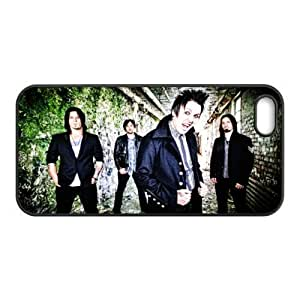 Gators Florida USA Music Band Series-3 Papa Roach Print Black Case With Hard Shell Cover for Apple iPhone 5