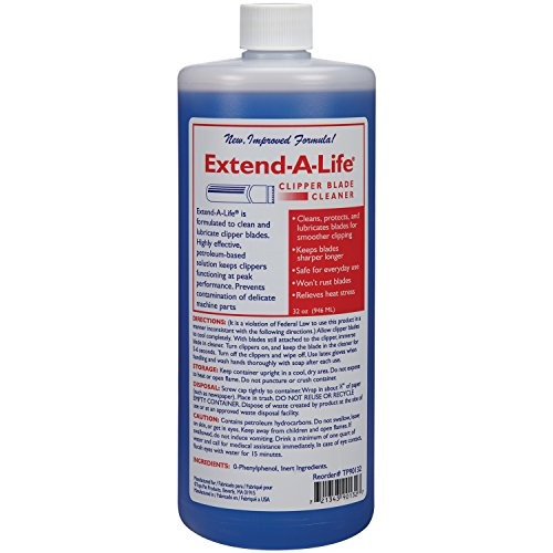 (Top Performance Extend-A-Life Blade Rinses - Handy Cleaners for Dog-Grooming Clippers, 32oz)