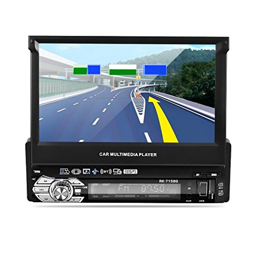 LESHP Single Din Car Stereo with Bluetooth 7' Touch Screen Sat Nav Support...