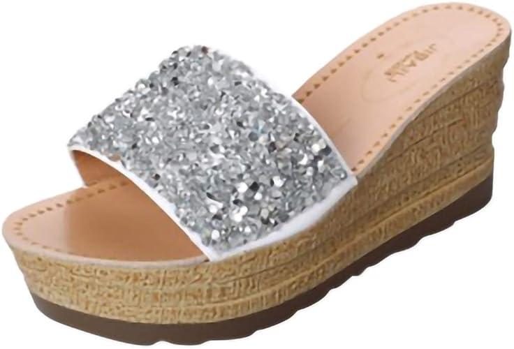 Chaussures Compensées Femme, Tongs Compensees Femmes WINJIN