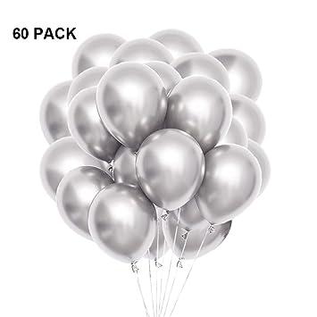 Amazon.com: Globos metálicos de látex, de helio, cromados ...