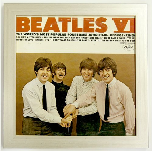 Record Album Sleeve Display Frame Featuring Solid Wood Frame and Glass Front (Not Plastic) (Brushed Silver ()
