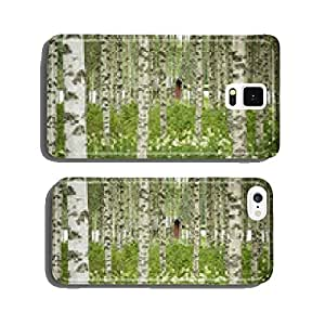 Sauna, birch forest and lake cell phone cover case Samsung S5