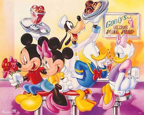 Bruce Teleky Walt Disney Mickey & Friends: Goofy's Soda Shop. Children's Print Poster (20 x 16)