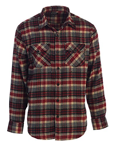Burgundy Flannel (Gioberti Men's Flannel Shirt, Burgundy/Black/Khaki, Size Medium)