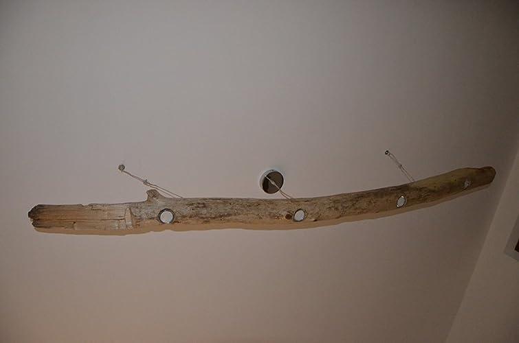 Lampadario Rustico Sospensione : Lampadario da soffitto a sospensione rustico con tronco di albero