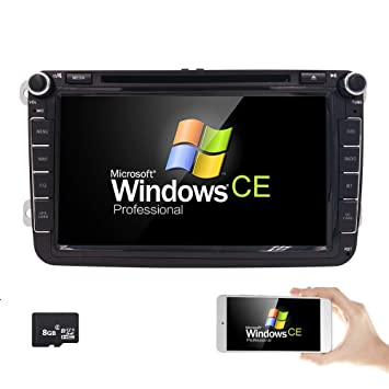 8 inch TV Monitor HD Touchscreen Auto Car DVD Player GPS Navigator For Volkswagen Jetta Golf