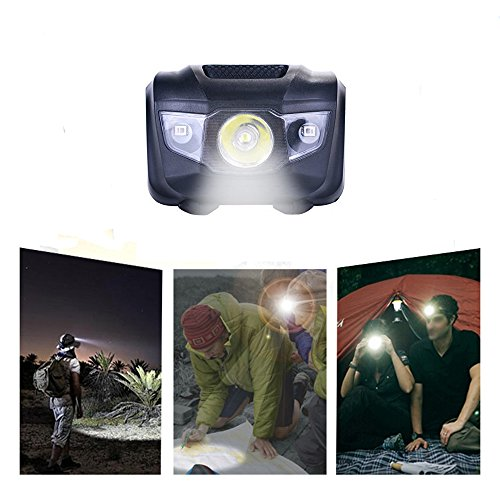 3-Pack Waterproof LED Headlamp (White and Red Lights), 4 Light Modes Lightweight Headlight for Running, Hiking, Hunting, Fishing, Camping by HappyOrange (Image #4)
