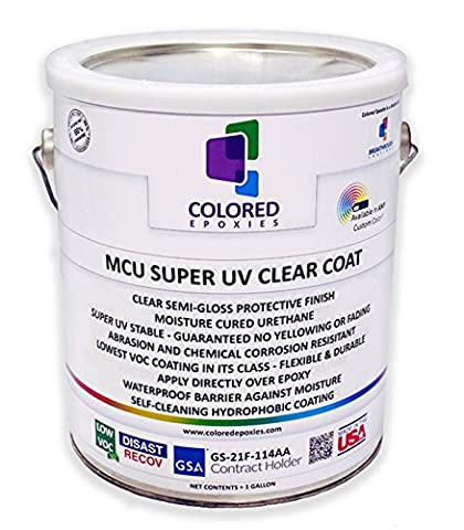Top Coat Epoxy Finish Moisture-Cured Polyurethane, Against UV Degradation, Non yellowing, Chemical resistance, Long Lasting Wet Look - Low Voc Polyurethane
