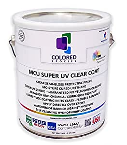 Top Coat Epoxy Finish Moisture Cured Polyurethane Against Uv Degradation Non Yellowing