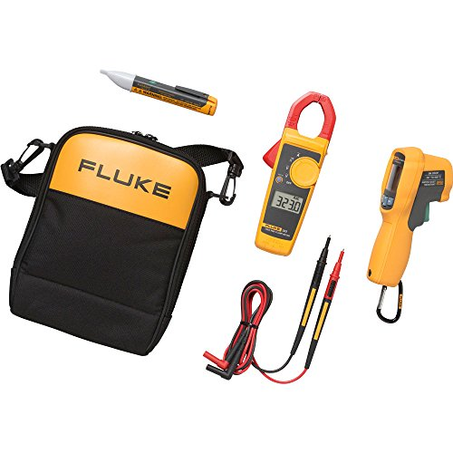 Fluke 62 MAX+/323/1AC Kit IR Thermometer, Clamp Meter and Voltage Detector Kit