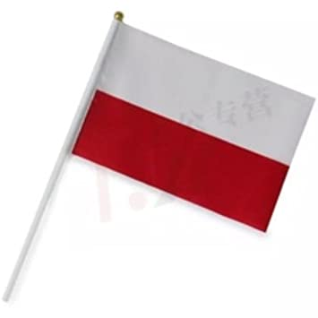 dojore small poland national flag game supporter car travel polish
