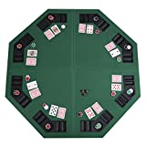 """Best Poker Table Tops - Giantex 48"""" Folding Poker Table Top Green Octagon Review"""