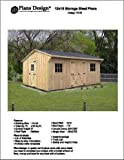 12' X 16' Saltbox Style Storage Shed Project