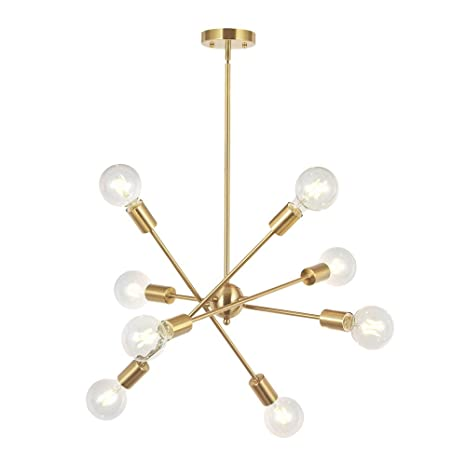 Amazon Com 8 Lights Modern Sputnik Chandelier Lighting With