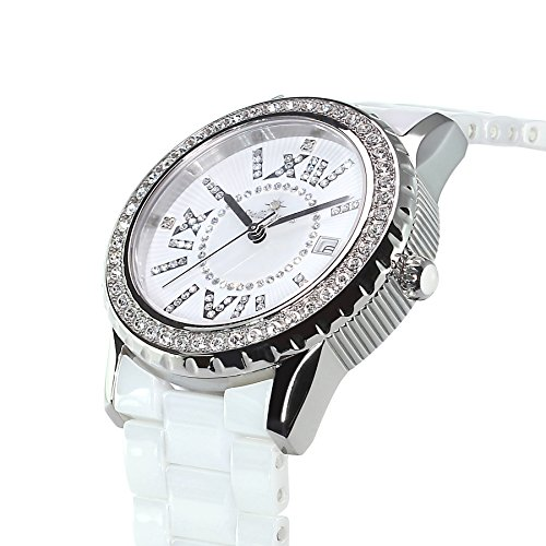 stella maris damen armbanduhr analog quarz premium keramik diamanten stm15e6 uhren. Black Bedroom Furniture Sets. Home Design Ideas