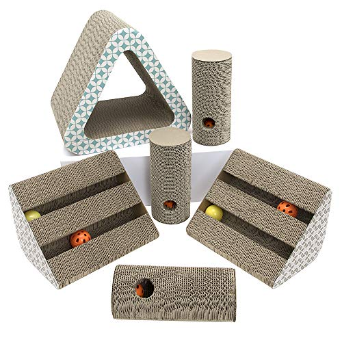 - Play King Large Triangle Hut Corrugate Scratchers Combo, Pet Toy, Cat Scratching