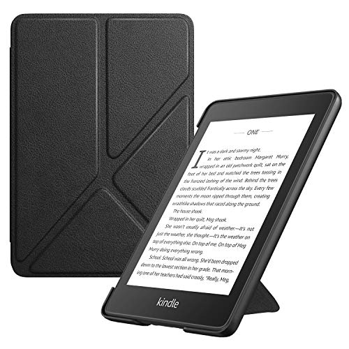 TiMOVO Case Compatible for Kindle Paperwhite E-Reader (10th Generation, 2018 Release) - Standing Origami Slim Shell Cover with Auto Wake/Sleep Fit Amazon Kindle Paperwhite, Black