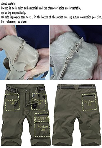 e910cfde85 Vcansion Men's Summer Outdoor Lightweight Hiking Shorts Sports Casual Shorts