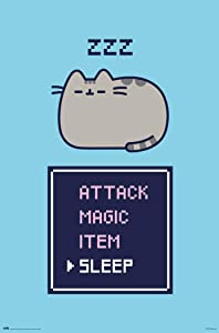 POSTER STOP ONLINE Pusheen The Cat - Poster (Gamer Cat - Attack Magic Item, Sleep) (Size 24 x 36)