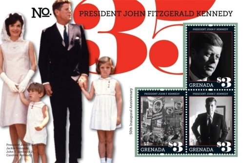 John F. Kennedy 50th Anniversary of Inauguration Collectors Stamps - Grenada (Stamp John Kennedy F)