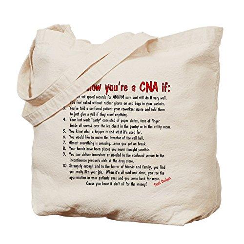 CafePress - You're A CNA If... - Natural Canvas Tote Bag, Cloth Shopping Bag