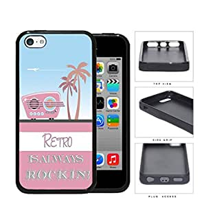 Retro Is Always Rockin Pink Radio Rubber Silicone TPU Cell Phone Case Apple iPhone 5c
