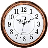 Image of Adalene 13 Inch Large Non-Ticking Silent Wall Clock Decorative, Battery Operated Quartz Analog Quiet Wall Clock, For Living Room, Kitchen, Bedroom