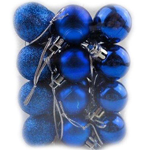 GAMT Colorful Christmas Balls Ornament Shatterproof Decorative Ball 24pcs Blue (Christmas Desktop For Tree Animated)