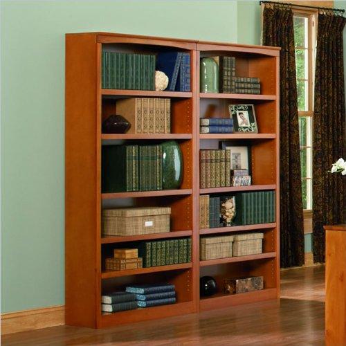 Atlantic Furniture 72 Inch Wall Bookcase in Caramel Latte