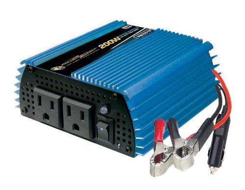Power Bright PW200-12 Power Inverter 200 Watt 12 Volt DC To 110 (200w Inverter)