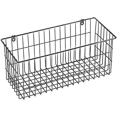 "multi-purpose Chrome-plated steel Large Wire Basket 13.50""x6"" metal wall-mounted"