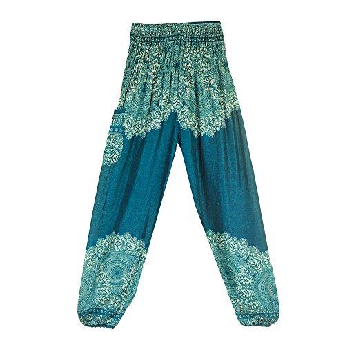 TIANMI Pants for Women,Summer Casual Thai Harem Trousers Boho Festival Hippy Smock High Waist Yoga Pants ()