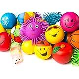 Stress Balls Puffer Stress Relief Toys Value Assortment Bulk 1 Dozen Stress Relax Toy Balls, Squeeze Ball Puffer Ball Assortment Most Popular Selection of Hand Exercise Balls & Therapy Balls