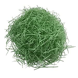 Baosity 20g Shred Paper Raffia Gift Box Filling Materials Confetti for Wedding Party - Green, as described