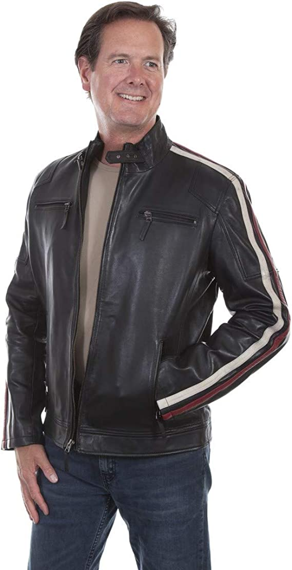 Men's Vintage Jackets & Coats Scully Mens Leatherwear Lamb Riding Jacket - 1030-11Racing $213.24 AT vintagedancer.com