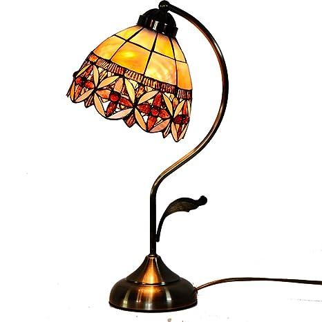 Lámparas de mesa de estilo Tiffany, 7 pulgadas de ancho de ...