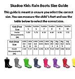 SkaDoo Black Little Kid Youth Rain Boots 11 M US