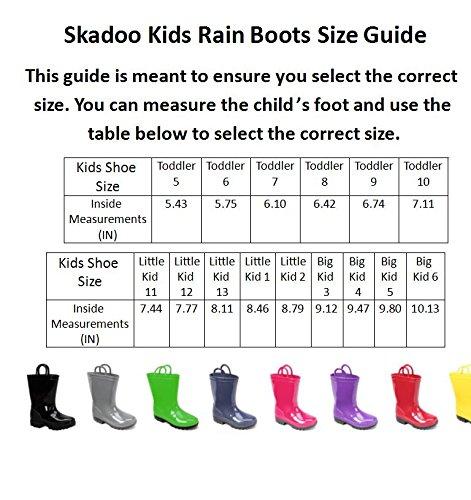 Ska Doo Dark Purple Kids Rain Boots 6 M US Toddler by SkaDoo (Image #3)