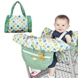 Grocery Shopping Cart Baby Seat Cover,Printed Baby Child Antibacterial Safety Portable High Chair Cushion,Grocery Shopping Cart Seat Cover,with Safety Harness Compact Storage Pouch