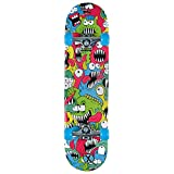Xootz Kids Chomper Complete Beginners Double Kick Trick Skateboard Maple Deck - Chomper, 31 x 8 Inches