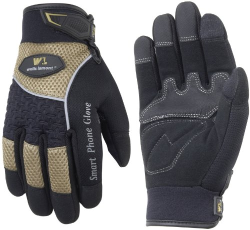 WELLS LAMONT Touch Screen Work Gloves, Synthetic Leather,...