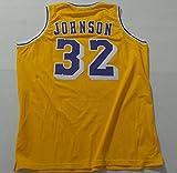 Magic Johnson Un Signed Yellow 5x Times MVP Jersey Los Angeles