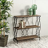 Seville Distressed Fir Wood Bookcase