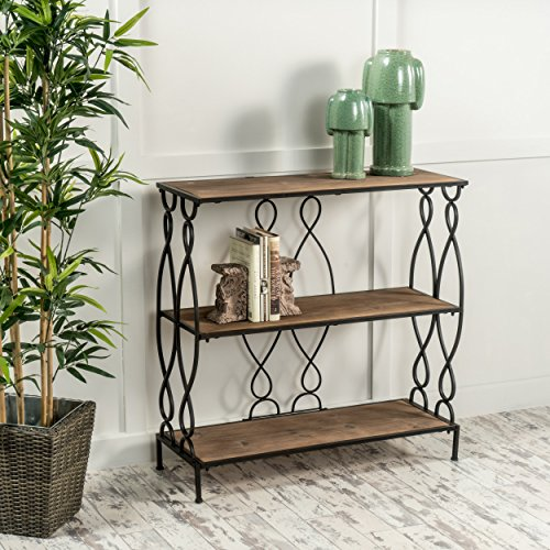 seville distressed fir wood bookcase - Unique Bookshelves