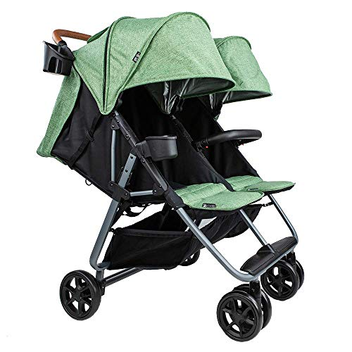 Twin+ Luxe (Zoe XL2) – Everyday Twin Stroller – Luxury Double Umbrella Stroller
