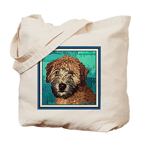 CafePress - Soft Coated Wheaten Terrier - Natural Canvas Tote Bag, Cloth Shopping ()